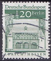 Deutsche Briefmarken (micky the pixel) Tags: briefmarke stamp ephemera deutschland bundespost berlin dauermarken bauwerk kloster monastery torhalle lorsch hessen