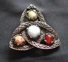 Celtic design brooch. (the.haggishunter) Tags: brooch jewelry macromondays