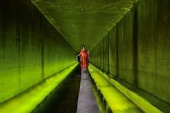 ... and justice for all (palateth) Tags: lightpainting lightart night nophotoshop singleexposure urbex abandonnedplace backlight tunnel underworld justice