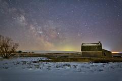 5 AM March 10 (John Andersen (JPAndersen images)) Tags: astrophotography albertafarm abandoned nightsky milkyway longexposure canon6d rokinon 24mm winter snow