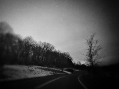 Lost Forsaken Endless (Creepella Gruesome) Tags: iphone6splus hipstamatic road car windshield drive motion blur trees branches silhouettes sky blackandwhite spooky dark mysterious phantasm