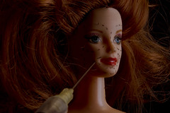 Botox Barbie (jopperbok) Tags: jopperbok barbie botox cosmetic cosmetics plastic surgery beauty red redhead needle syringe operation medical health lifestyle conceptual dixit portrait face