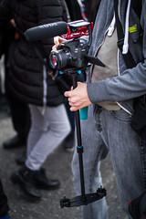 Man recording video with a DSLR camera on a steadicam (Ivan Radic) Tags: dslr kamera manrecording schwebestativ steadicam steadycam aufzeichnen camera filmen filming video viltroxefeosm2 speedbooster focalreducer canon50mmf14usm canoneosm50 mirrorless spiegellos evil cscilc prime systemcamera systemkamera mödling österreich austria fasching faschingsumzug 2019 carnival karneval ilc csc ivanradic