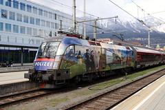 ÖBB 1116 157-9 Gemeinsam sicher, Innsbruck Hbf (TaurusES64U4) Tags: öbb railjet 1116 taurus