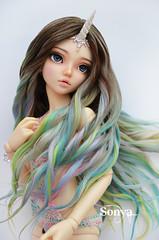 DSC_2098 (sonya_wig) Tags: fairytreewigs wig bjdwig minifeewig bjd bjdminifee minifeechloe handmadedoll bjddoll dollphoto fairyland fairylandminifee minifee chloe bjdphotographycoloringhair unicorn