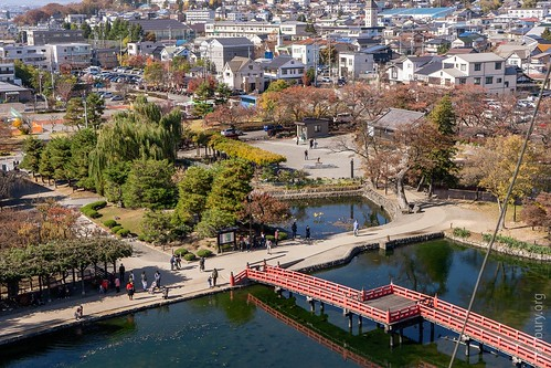 Matsumoto from the top of the castle keep