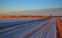 Golden Hour Arrival (bkays1381) Tags: thiefriverfalls minnesota winter canadianpacific sooline cprnoyessub noyessubdivision marshallcounty