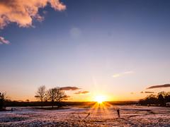 Bristol downs sunset flare 1 (strangesimon) Tags: bristol winter snow sunset downs landscape sun flare