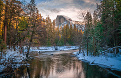 Yosemite Half Dome Sentinel Bridge! Colorful Clouds Sunrise! Sony A7R2 Yosemite National Park Winter Snow Tunnel View  Snowy Rocks! Yosemite NP Dr. Elliot McGucken Fine Art Snow Photography!  Sony A7R II & 16-35mm F4 Carl Zeiss Wide Angle Lens! (45SURF Hero's Odyssey Mythology Landscapes & Godde) Tags: yosemite colorful clouds sunrise nikon d850 national park winter snow tunnel view bridalveil falls el capitan snowy rocks np dr elliot mcgucken fine art photography sony a7r ii 1635mm f4 carl zeiss wide angle lens high res 4k 8k photos