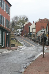 Ghost Town (eyriel) Tags: street road building buildings icy brick bricks
