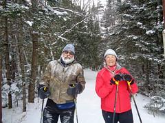 Chris and Wayne (M.R.Kirk) Tags: sylvania outfittersskiingskixc ski watersmeet up
