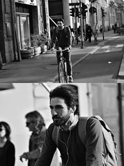 [La Mia Città][Pedala] (Urca) Tags: milano italia 2018 bicicletta pedalare ciclista ritrattostradale portrait dittico bike bicycle nikondigitale scéta biancoenero blackandwhite bn bw 11836