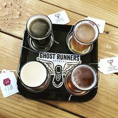 Ghost Runners Brewery Flight (ahockley) Tags: beerflight beergarden belgianale brewery ghostrunners ghostrunnersbrewery shotoniphone shotoniphone6 stout vancouver vancouverwashington washington