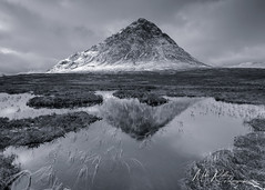 Fleeting ... (Mike Ridley.) Tags: buachailleetivemor buachaille glencoe scottishhighlands scotland reflection pond tarn wilderness nature winter snow sonya7r2 mikeridley sonyfe1635f4