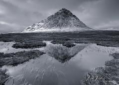 Fleeting ... (Mike Ridley.) Tags: buachailleetivemor buachaille glencoe scottishhighlands scotland reflection pond tarn wilderness nature winter snow sonya7r2 mikeridley sonyfe1635f4