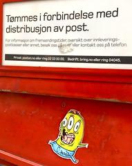 BArnslig Monster (svennevenn) Tags: bergen gatekunst streetart stickers barnslig