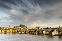 Charles Bridge with Prague Castle at sunrise (Explored 3-5-19) (Tomingramphotography.com) Tags: charlesbridge praguecastle stvitus cathedral prague czechrepublic cityscapes europe nikon d5 travel