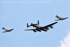 6161 BBMF Spitfire AB910 Lancaster Hurricane LF363 (photozone72) Tags: bbmf rafbbmf raf hurricane lf363 spitfire ab910 lancaster avro aviation aircraft airshows airshow canon canon7dmk2 canon100400f4556lii 7dmk2 farnborough fia