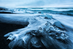 Iceland Diamond Beach by Scott Donschikowski.jpg (Scott Donschikowski) Tags: nature landscape seashore volcanic water wet jökulsárlón waves shore summer cold diamondbeach iceland blue beach ocean south travel seascape sea fantastic outdoors glacierlagoon blacksand ice iceberg frozen