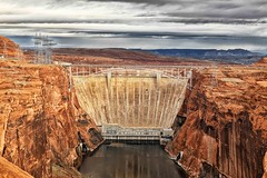 Glenn Canyon Power Dame,  AZ (Tom Zsolt) Tags: glencanyon glencanyonpowerdam architecture art arizona artphotography colour coloradoriver pageaz lakepowel hydroelectricity hydrodam