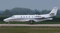OM-BLS / Cessna 560.XL Citation Excel / Elite Jet (PBe1958) Tags: transportation lietadlo aircraft airplane aero aeroplane bizzjet cessna c56x cessna560xlcitationexcel elj elitejet bts bratislavaivankamrštefánik
