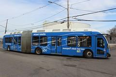 Massport Bus (So Cal Metro) Tags: artic articulated articulatedbus nabi 60brt massport logan boston airport