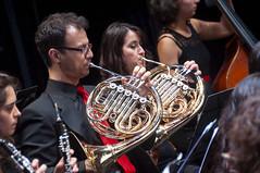Trompas (Guillermo Relaño) Tags: guillermorelaño nikon d90 teatro nuevoapolo orquesta camerata musicalis especial ¿porqueesespecial schuman sinfonía cuarta concierto viento trompa
