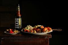Armadillo Eggs and Olives (Studio d'Xavier) Tags: armadilloeggsandolives lunch food stilllife strobist