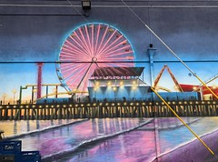 Urban Essence: mural of Santa Monica Pier @gz.jr Great street artists are adding beauty to our urban landscape. There is no need for urban blight when we can have urban bright and urban beauty. (remiklitsch) Tags: colorful color iphone remiklitsch gzjr santamonica urban streetart mural