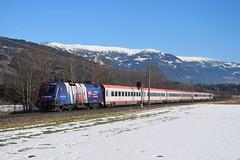 """1116 232, IC 533 """"Lienzer Dolomiten"""" ( Wien Hbf -> Lienz ). Lendorf (M. Kolenig) Tags: intercity schnee berg baum 1116"""