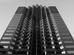 Maze (Lights'n'life) Tags: architecture unique skyscraper building blackandwhite multi story tall downtown financial district glass