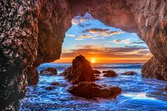 Sunset of the Last Day of the Year (Michael F. Nyiri) Tags: malibuca elmatadorstatebeach rockyshore sunset clouds colors
