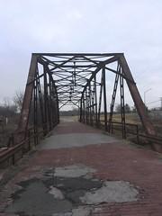 20190116-115427-5 (alnbbates) Tags: january2019 route66 route66landmarks sapulpa rockcreekbridge bridge streeltrussbridge