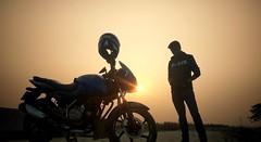 'A Little Taste Of Hypocrisy' - a phone shot... (iam_aanwar) Tags: self silhouette sunset me bike eveningsky outdoor
