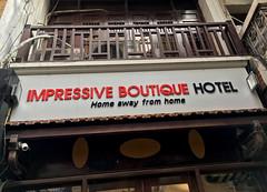 Impressive Boutique Hotel (cowyeow) Tags: hanoi vietnam asia asian funny street urban city sign funnysign oldhanoi impressive hotel