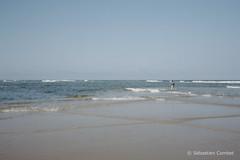 Pêcheur sur la plage de Moliets-et-Maa (Sébastien Combet) Tags: molietsetmaa canon canonet fujichrome sensia reversal inversible diapositive summer plage beach landes pecheur fisherman