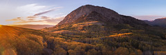 Mountain Panorama (Jenn Grover) Tags: anthraciterange aspens colorado colorfulcolorado crestedbutte djimavic2pro drone gmugnationalforest gunnison gunnisonnationalforest hasselblad keblerpass marcellinamountain raggedswilderness uas uav usfs westelkmountains autumn colors fall foliage forest grove leaves mountains mountainscape quadcopter stand sunset trees