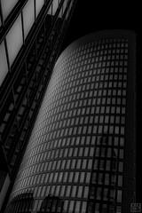black tower (MAICN) Tags: glass dortmund architektur building himmel mono cityscape windows sw skyscraper lines front bw glas blackwhite monochrome fassade linien schwarzweis fenster architecture geometrisch einfarbig hochhäuser geometry gebäude