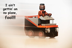 LEGO The A-Team - I ain't gettin' on no plane, fool!!! (weeLEGOman) Tags: lego the ateam mr t ba baracus bad attitude 1980s fool plane van vehicle minifigure minifigures toys toy motion blur macro nikon d7100 105mm uk robert rob trevissmith