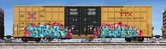 Butch/Elohs (quiet-silence) Tags: graffiti graff freight fr8 train railroad railcar art butch elohs ehc ups boxcar ttx tbox tbox664223