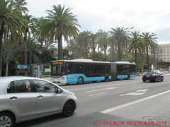 "2018 031412 IVECO URBANWAY 18M ARTICULATED BUS 2014 EMT MALAGA 643 6390JCB (Andrew Reynolds transport view) Tags: europe spain andalucia transport bus coach transit passenger omnibus diesel ""mass transit"" 2018 031412 iveco urbanway 18m articulated 2014 emt malaga 643 6390jcb"