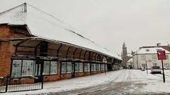 Snow covered museum , Newbury