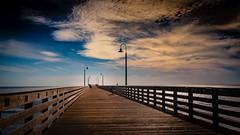 As Darkness Sets In (CDay DaytimeStudios w /1 Million views) Tags: beach bluesky ca california cayucos coastline highway1 landscape ocean pacificcoast pacificcoasthighway pacificocean pier sunset water