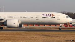 Boeing 777 -3AL(ER) THAI AIRWAYS HS-TKO 41524 Francfort janvier 2019 (Thibaud.S.) Tags: boeing 777 3aler thai airways hstko 41524 francfort janvier 2019