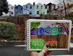 Southville: (aniuswalker) Tags: southville bristol bristolart urbansketch urbansketcher urbansketching bristolian watercolor watercolorsketch sketch painting drawing houses quartiere