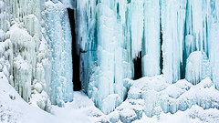 Wall of Ice and Snow (CanonDLee) Tags: blue break brr chilly cold frozen ice mn minnehaha minneosta minnesota park pillars snow southernhemisphere white winter
