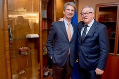 MEP José Ignacio Salafranca and the President of the European Commission Jean Claude Juncker (josalafranca) Tags: josé ignacio salafranca juncker jean claude commission european parliament