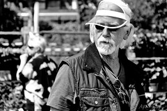 Howdy Stranger! (Alfred Grupstra) Tags: people blackandwhite senioradult men outdoors oneperson seniormen males portrait realpeople adult caucasianethnicity hat old matureadult lookingatcamera retirement lifestyles bwimage