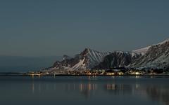 Blaue Stunde in Ramberg (the_real_raph) Tags: lofoten norway winter blauestunde landscape fujifilmxt3 fujinonxf5612 mountain berge night flickrtravelaward