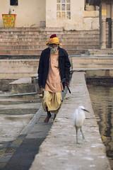 0936 Pushkar Old Man (Hrvoje Simich - gaZZda) Tags: outdoors people man old walk bird pushkar india asia indian travel nikon nikond750 sigma150500563 gazzda hrvojesimich